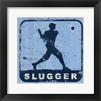Slugger Framed Print