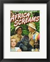 Framed Abbott and Costello, Africa Screams, c.1949 style B