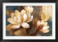 Framed Turquoise Magnolias