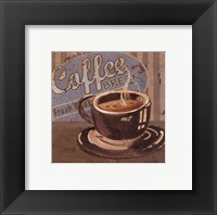 Framed Coffee Brew Sign I - petite