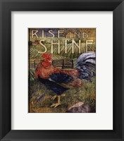 Rooster Sign II - mini Framed Print