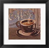 Framed Coffee Brew Sign I