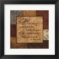 Life's About Framed Print