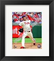 Framed Cole Hamels 2010 Action