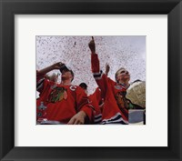 Framed Jonathan Toews & Patrick Kane Chicago Blackhawks 2010 Stanley Cup Champions Victory Parade (#60)