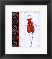 French Couture III Framed Print