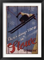 Ski Stowe Framed Print