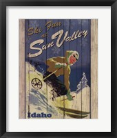 Ski Sun Valley Framed Print