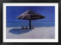 Cerulean Retreat Framed Print