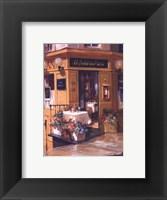 La Petite Terrasse Framed Print