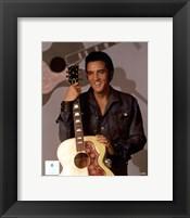 Framed Elvis Presley Holding Gibson Guitar (#9)