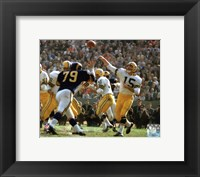 Framed Bart Starr 1962 Action