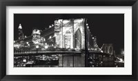 Framed Brooklyn Bridge At Night