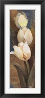 Tulip Trio Panel Framed Print