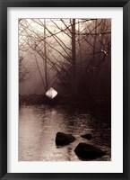 Framed Silvered Morning Pond