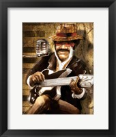 Framed Guitarist