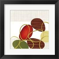 Pebbles & Loops I Framed Print