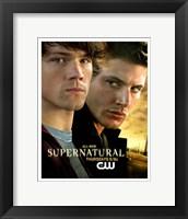 Framed Supernatural (TV) Sam & Dean Winchester