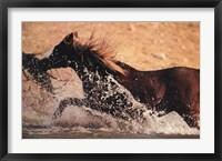 Framed Running through Water