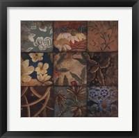 Framed Floral Mosaic IV