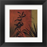 Tropical Silhouette I Framed Print