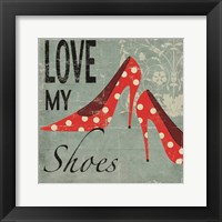 Love My Shoes Framed Print