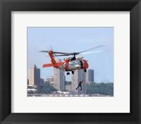 Framed HH-60 Jayhawk United States Coast Guard