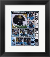 Framed 2010 Jacksonville Jaguars Team Composite