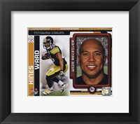 Framed Hines Ward 2010 Studio Plus