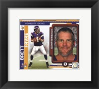 Framed Brett Favre 2010 Studio Plus