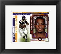 Framed Adrian Peterson 2010 Studio Plus