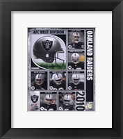 Framed 2010 Oakland Raiders Team Composite