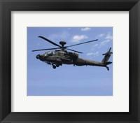 Framed AH-64 Apache US Army photo