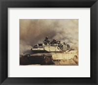 Framed M1A1 Abrams United States Army
