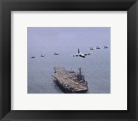 Framed USS George Washington (CVN-73) United States Navy