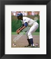 Framed Ernie Banks 1969 Action