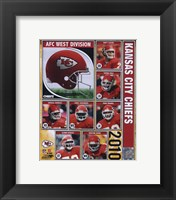 Framed 2010 Kansas City Chiefs Team Composite