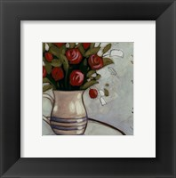 Framed White Pitcher Bouquet