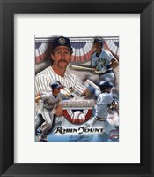 Framed Robin Yount Hall of Fame Limited Edition