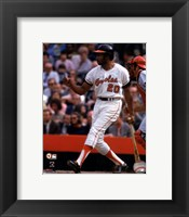 Framed Frank Robinson 1970 World Series Action