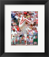 Framed Steve Carlton Action