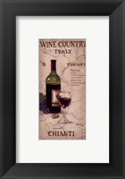 Framed Wine Country IV
