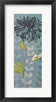 Sarah's GardenI in Blue Framed Print