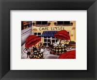 Framed Cafe Elysee