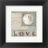 Beach Journal I Framed Print