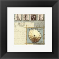 Beach Journal III Framed Print