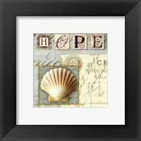 Beach Journal IV Framed Print