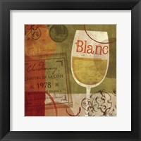 Cheers! Blanc Framed Print