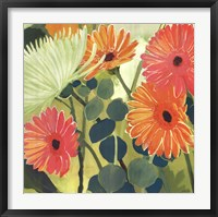 Framed Tangerine Garden I
