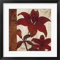 Framed Floral Harmony I